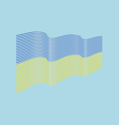ukraine flag on blue background wave strip vector image