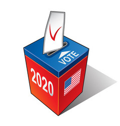 us presidential election 2020 ballot box with vector image