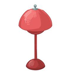 Vintage lamp designed in 00s furniture for home vector
