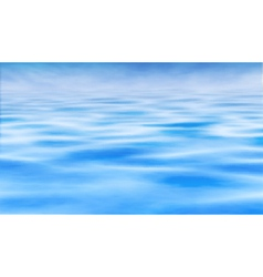 Water horizon vector image