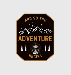 Wilderness adventure logo design print camping vector