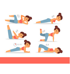 woman home workout exercising at home vector image