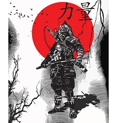 An hand drawn from Japan Culture - Samurai Shogun vector image vector image