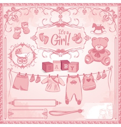 baby girl childbirth vector image vector image
