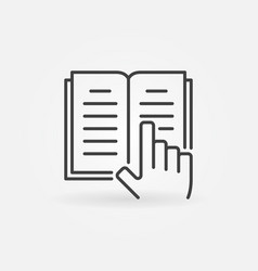 book and hand icon vector image