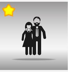 man and woman black icon button logo symbol vector image vector image