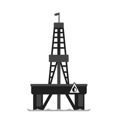 Oil platform in the sea oil industry production vector