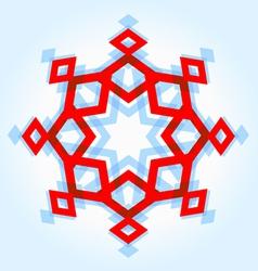 Abstract geometric snowflake vector image vector image
