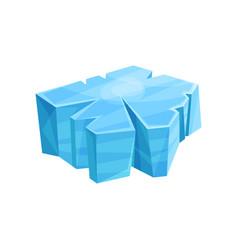 blue piece of ice iceberg vector image