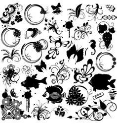 clipart design elements vector image