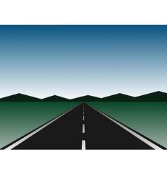 empty road vector image vector image