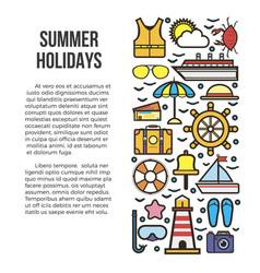 summer holidays information list vector image vector image
