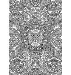 black white pattern art vector image vector image