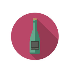 champagne icon in flat style vector image
