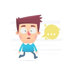 confusion and stress vector image vector image