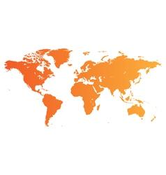 Orange World map vector image vector image
