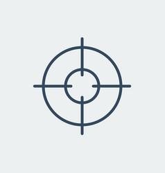aim icon target symbol crosshair vector image
