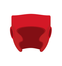 Boxing helmet red boxer mask isolated spor vector