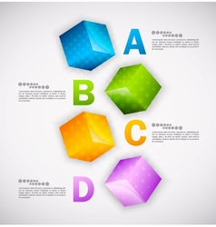 Cubes design Infographic vector image vector image