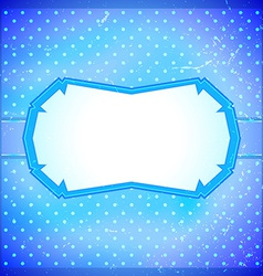 Ice themed vintage frame vector image vector image
