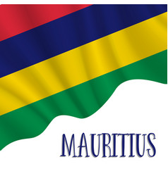 12 march mauritius independence day background vector