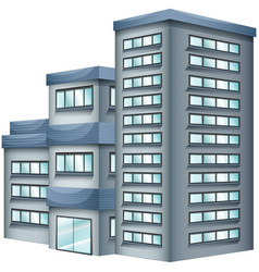 3d design for tall building vector image