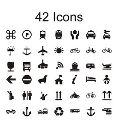 42 icon sets tools icon vector image