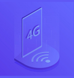 4g wireless internet wifi connection vector