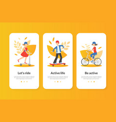 active life landing page template healthy vector image