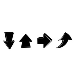 arrow doodles up and down black signs vector image