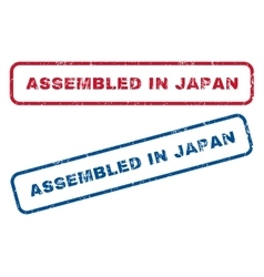 Assembled In Japan Rubber Stamps vector