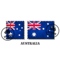 australia or australian flag pattern postage vector image
