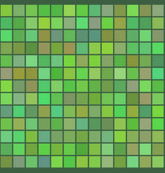 background of art colored green squares mosaic vector image