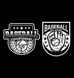 Baseball championship all star badge logo emblem vector