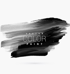 Black dark paint grunge stain vector