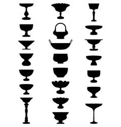 bowls for fruit vector image