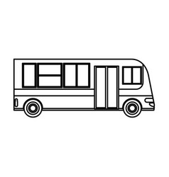 bus transport service public outline vector image
