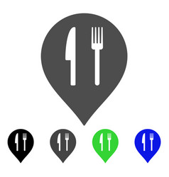Cafe marker flat icon vector