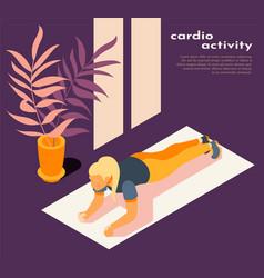Cardio activity isometric background vector
