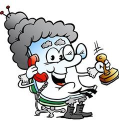 Cartoon of a Cute Grandma Paper Mascot vector
