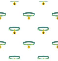 Cat collar pattern seamless vector