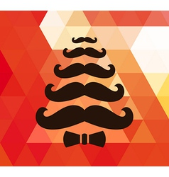 Christmas retro background with mustaches vector image