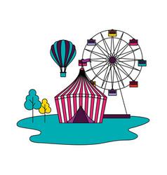 Circus fun fair vector