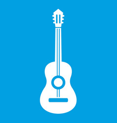 Classical guitar icon white vector