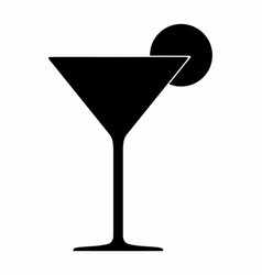 cocktail glass dark silhouette vector image