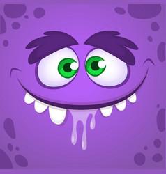 Cool cartoon monster face avatar vector
