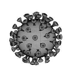 coronavirus 2019-ncov virus 3d vector image