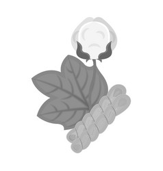Cotton single icon in monochrome stylecotton vector