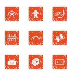 creativeness icons set grunge style vector image