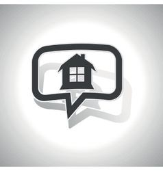 Curved house message icon vector